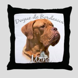 Dogue Mom2 Throw Pillow