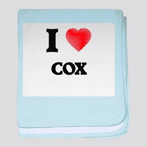 I Love Cox baby blanket