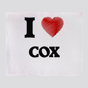 I Love Cox Throw Blanket