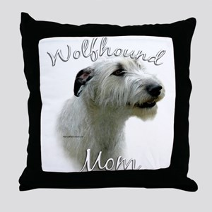 Wolfhound Mom2 Throw Pillow