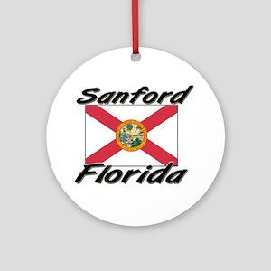 Sanford Florida Ornament (Round)
