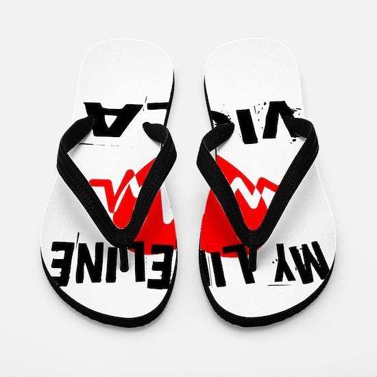 My Lifeline viola Music Flip Flops