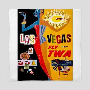 Vintage poster - Las Vegas Queen Duvet