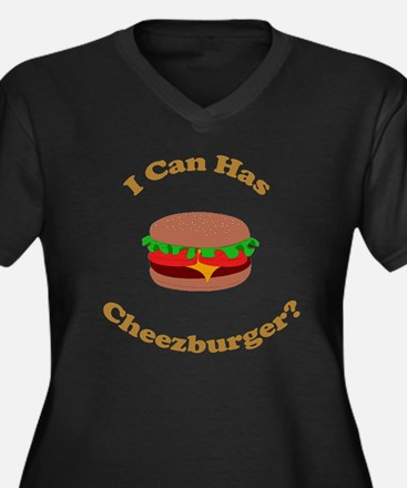 I Can Has Cheezburger Women's Plus Size V-Neck Dar