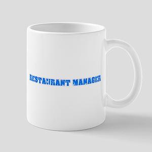 Restaurant Manager Blue Bold Design Mugs