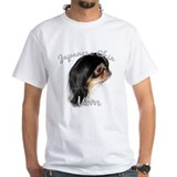 Japanese chin Mens Classic White T-Shirts