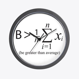 Be greater than average Wall Clock