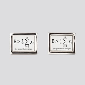 Be greater than average Rectangular Cufflinks