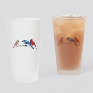 Birds in the Snow Drinking Glass