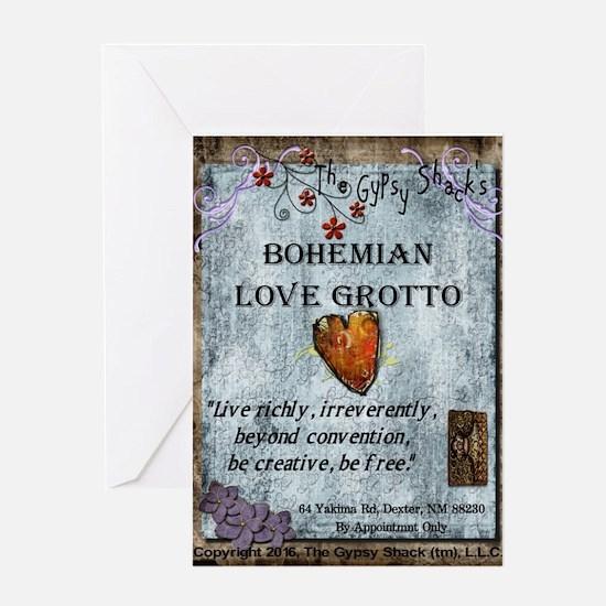 Bohemian Love Grotto Logo Greeting Cards