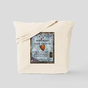 Bohemian Love Grotto Logo Tote Bag