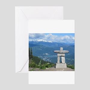 Inukshuk Whistler Greeting Cards