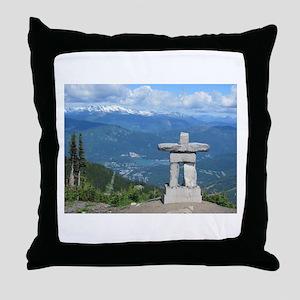 Inukshuk Whistler Throw Pillow
