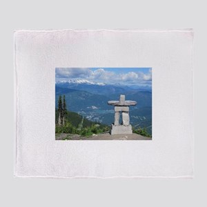 Inukshuk Whistler Throw Blanket