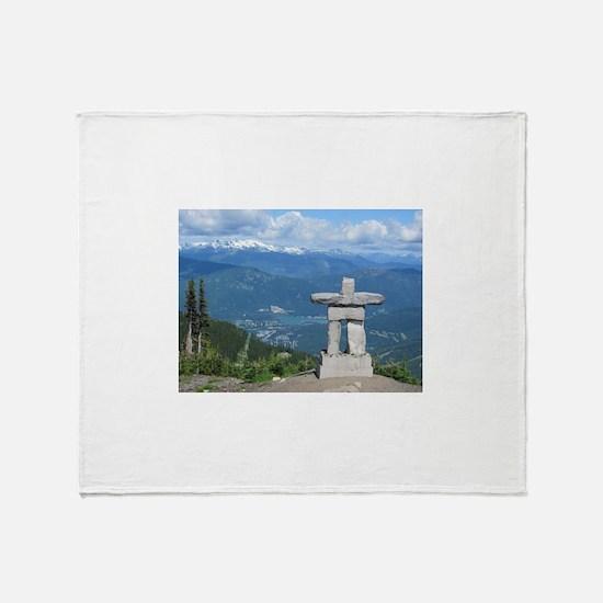 Inukshuk Whistler Throw Blanket