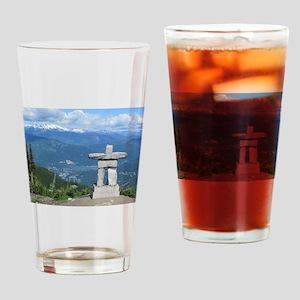 Inukshuk Whistler Drinking Glass