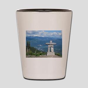 Inukshuk Whistler Shot Glass