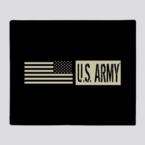 U.S. Army: U.S. Army (Black Flag) Throw Blanket