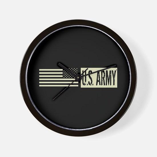 U.S. Army: U.S. Army (Black Flag) Wall Clock