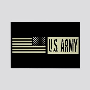 U.S. Army: U.S. Army (Black Flag) Rectangle Magnet