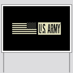 U.S. Army: U.S. Army (Black Flag) Yard Sign