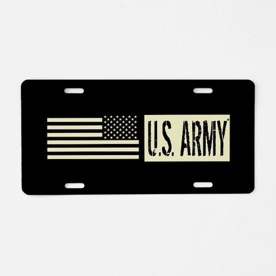U.S. Army: U.S. Army (Black Aluminum License Plate