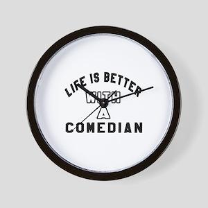 Comedian Designs Wall Clock