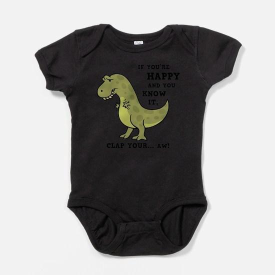 Unique Tyrannosaurus rex Baby Bodysuit