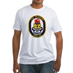 USS FLATLEY Fitted T-Shirt