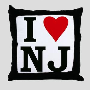 I Love NJ Throw Pillow