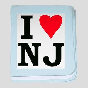 I Love NJ baby blanket