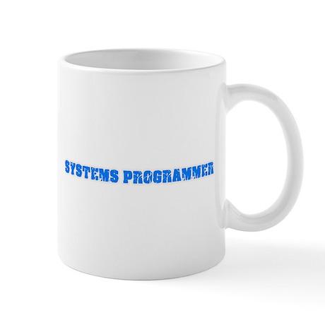 Systems Programmer Blue Bold Design Mugs