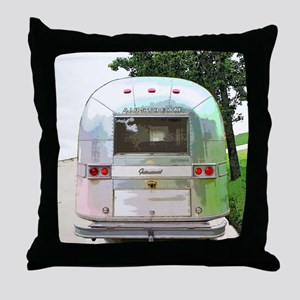 Vintage Airstream Throw Pillow