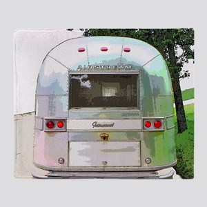 Vintage Airstream Throw Blanket
