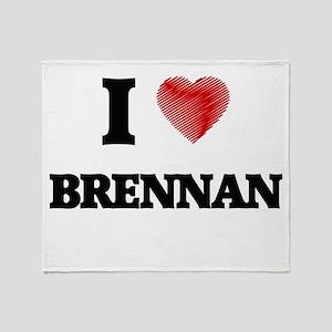 I Love Brennan Throw Blanket