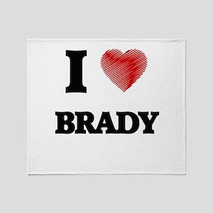 I Love Brady Throw Blanket
