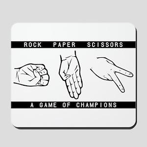 Rock Paper Scissors (RPS) Mousepad