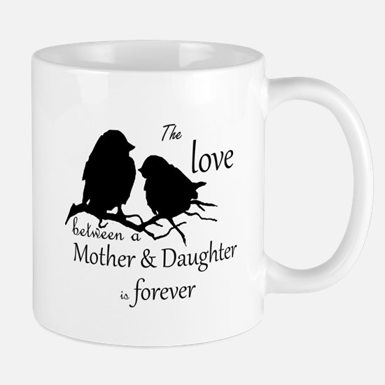 Mother Daughter Love Forever Quote Cute Bird Silho