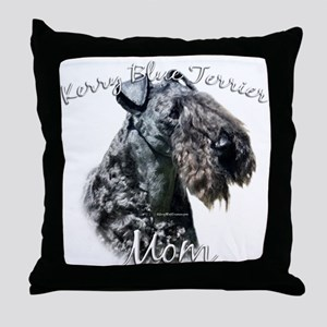 Kerry Blue Mom2 Throw Pillow