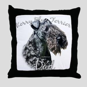 Kerry Blue Dad2 Throw Pillow