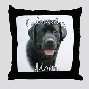 Lab Mom2 Throw Pillow