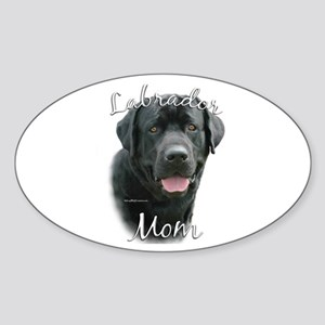 Lab Mom2 Oval Sticker