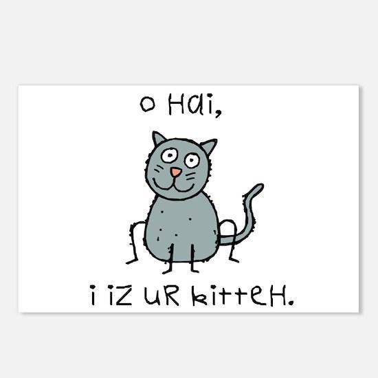 O Hai Kitteh Postcards (Package of 8)