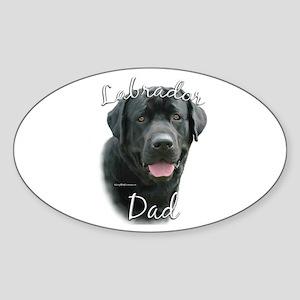 Lab Dad2 Oval Sticker