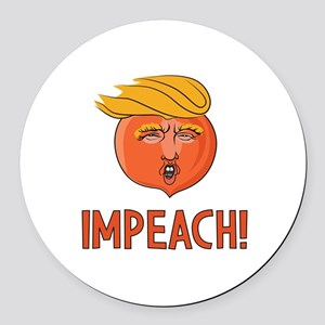 Impeach Trump Round Car Magnet