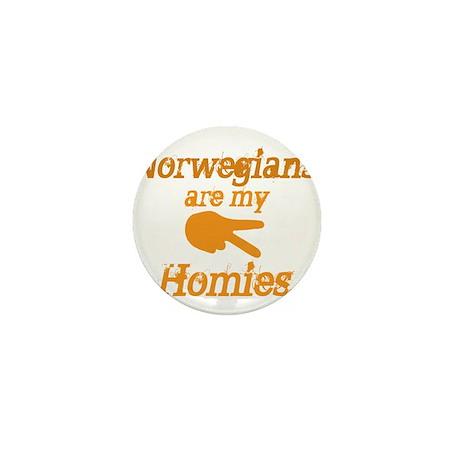 Norwegians are my Homies Mini Button