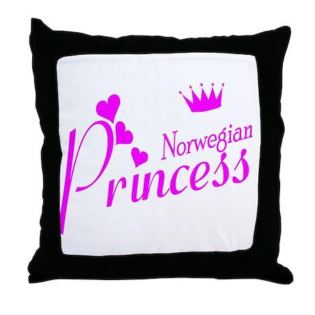 Norwegian Princess Throw Pillow