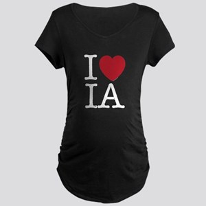 I Love IA Iowa Maternity Dark T-Shirt
