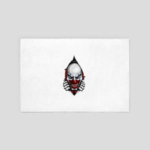 scary clown inside 4' x 6' Rug