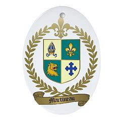 MARTINEAU Family Oval Ornament